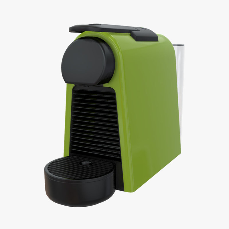 Nespresso Coffee Machine Essenza Mini (EN85) 3D Model for Real-Time (AR /  VR) applications