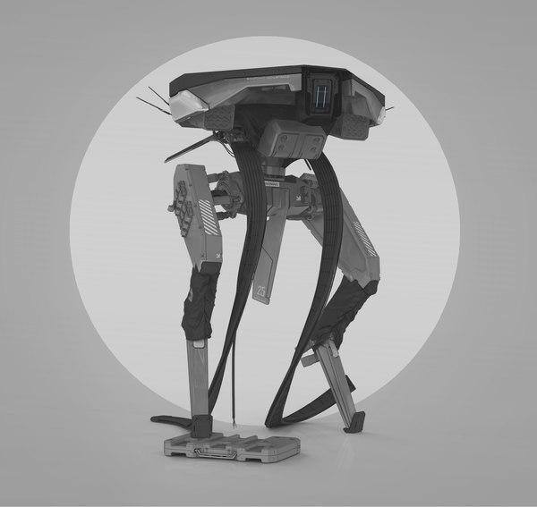 testsubject mech 3D model