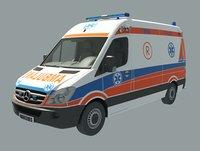 3D model ambulance 2008