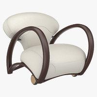 armchair branca seat 3D model