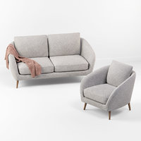 Hanna sofa with chair