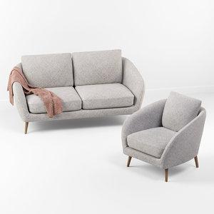 3D corona hanna sofa chair
