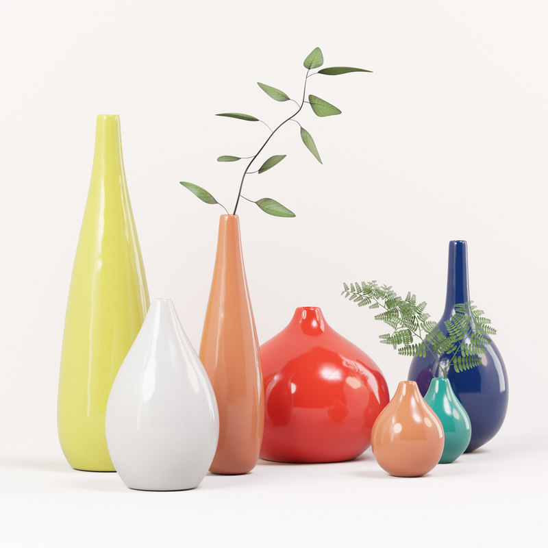 seven vases decoration set model