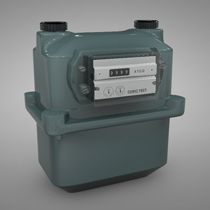 3D gas meter bk-250 green model