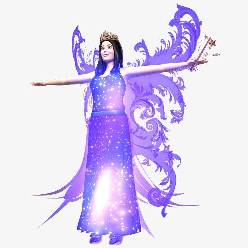 fairy wings tiara 3D