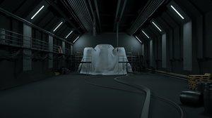 warehouse tubes barrels 3D model