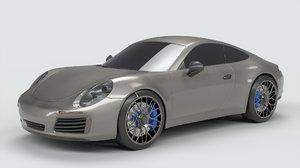 3D sports coupe car