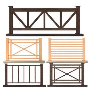 3D fence set 01