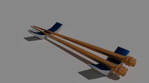 chopstick stand blender 3D