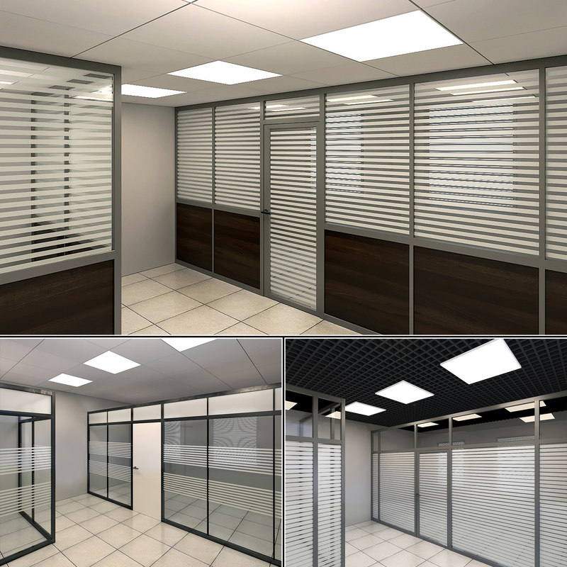 office glass partitions model