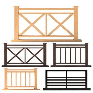 3D fence set 02 model