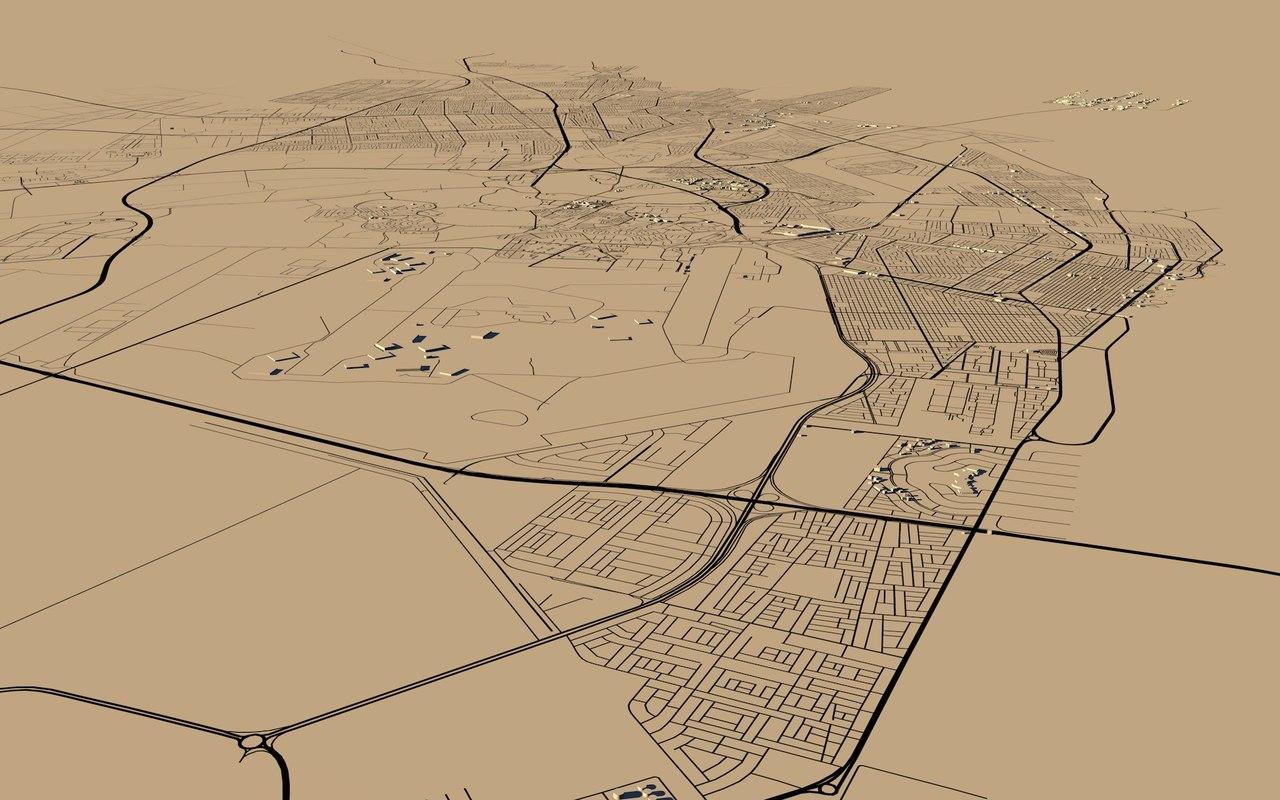 dammam city saudi arabia 3D