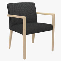 3D armchair seat wood model