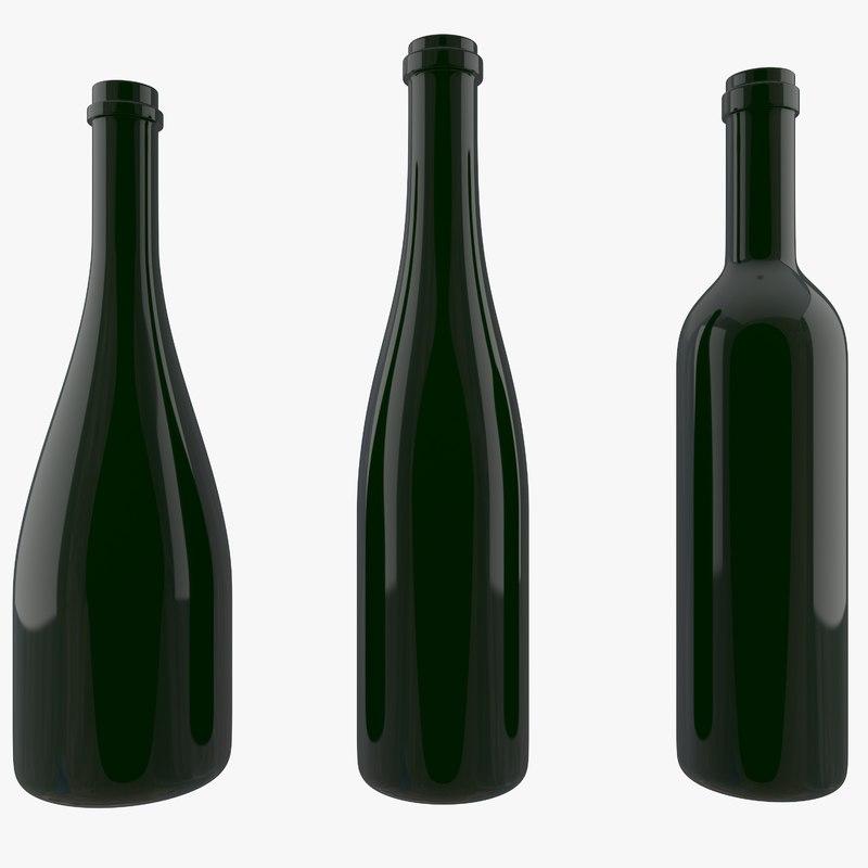 bottle wine 3D