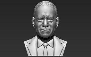 3D tom hanks bust ready