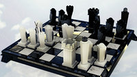 3D chess interior real model