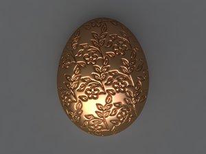 3D egg mold hand model