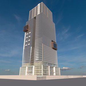 3D skyscraper 10 towers model