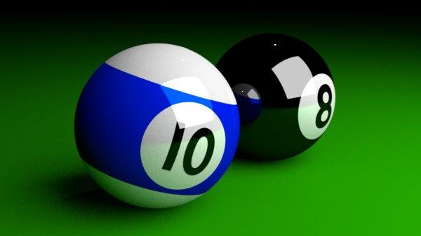 3D pool balls model