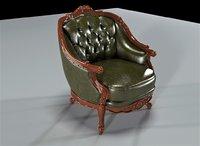 3D modenese gaston armchair model