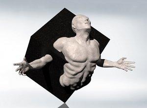 3D struggle creation sculpture