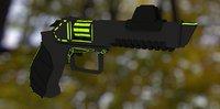 Low Poly revolver RjK2