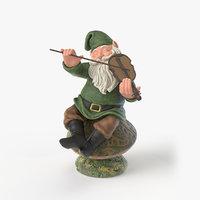 3D model garden gnome