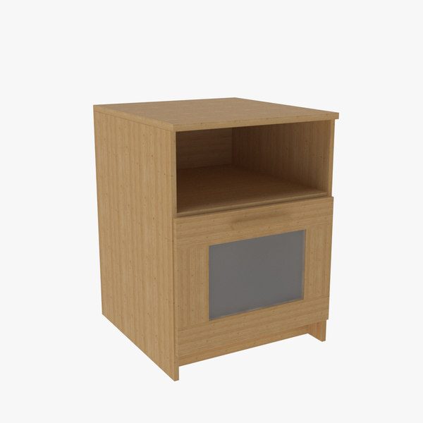 bedside table 02 3D model