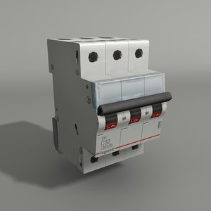 3D 3 phase circuit breaker