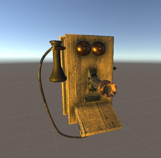 3D 50s telephone unity