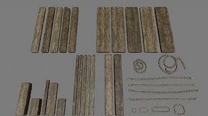 3D rope wood