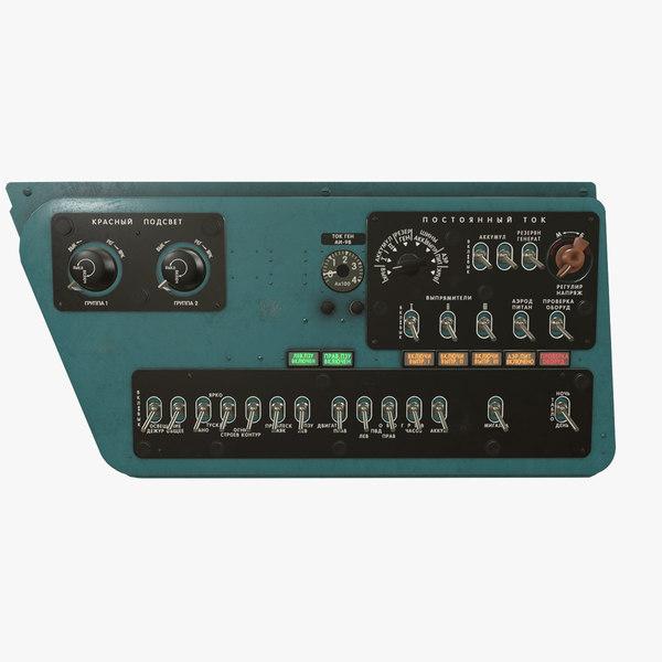 right console mi-8mt mi-17mt 3D model
