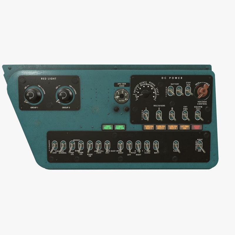 3D right console mi-8mt mi-17mt