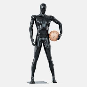 faceless mannequin basketball model