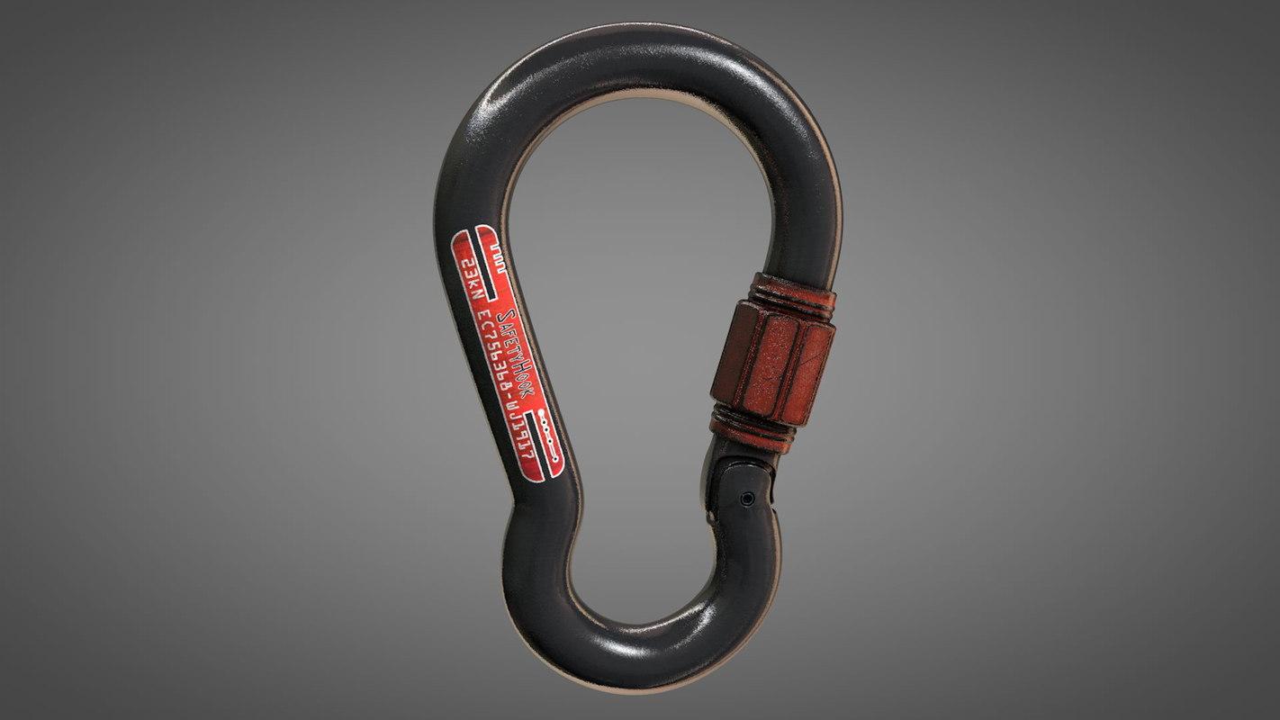 safety hook 3D model