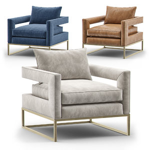 3D bevin accent chair armchair
