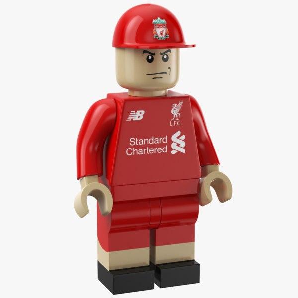 liverpool lego man 3D model