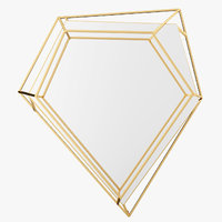 3D diamond mirror