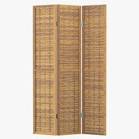 bcmh2264 room divider bamboo 3D model