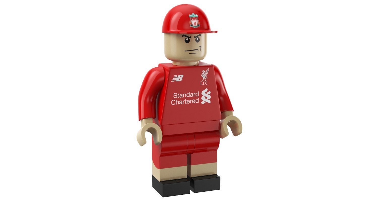 liverpool lego man 3D model