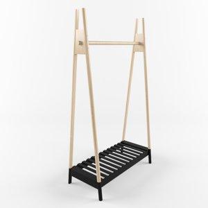 traveling hanger jysk jennet 3D model