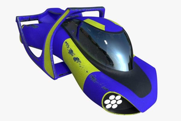 sci-fi hover car model