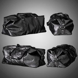 mens leather travel bag 3D model