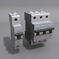 circuit breakers 3D model