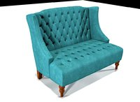 roquefort loveseat 3D model