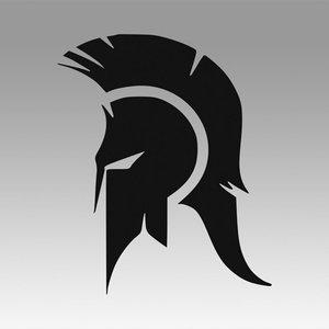 3D spartan sparta logo