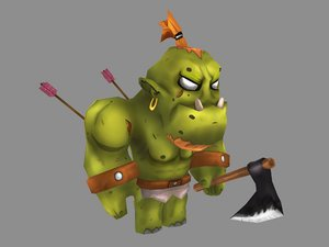 fantasy character orc model