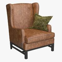 3D chair armchair furniture