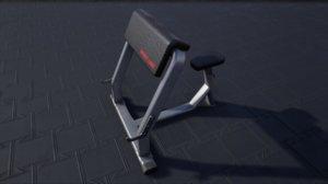 pbr scott bench 3D model