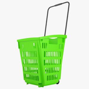 3D plastic roll shopping model